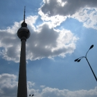 Fernsehturm and clouds