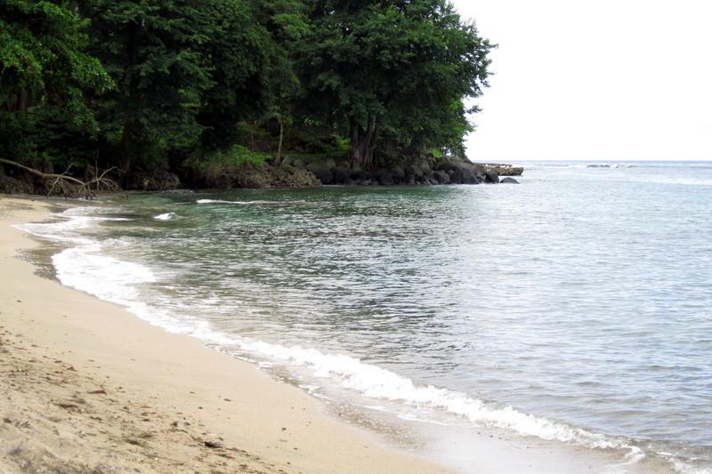 The beach in Capurganá
