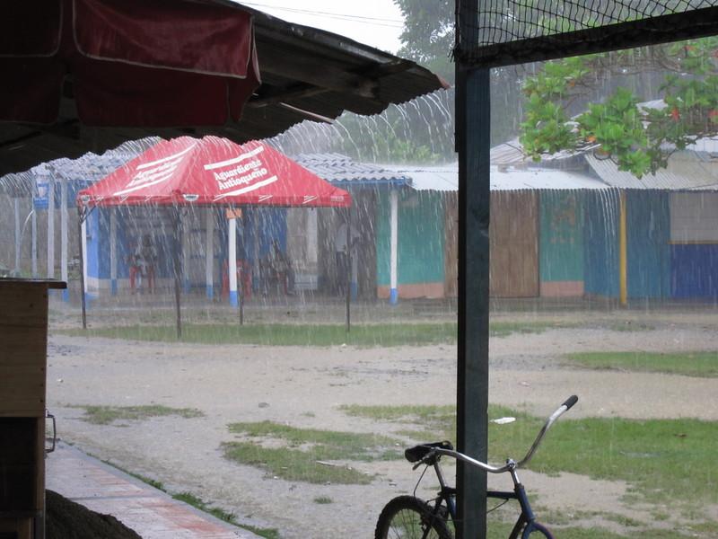 Yes, it is raining . . .