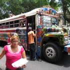 Colourful buses in Panama City