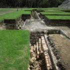 Excavations in front of El Castillo