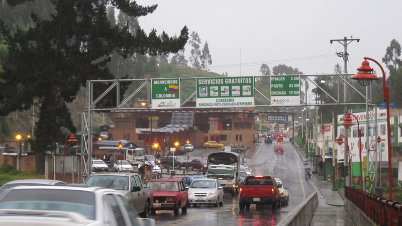 The border between Ecuador and Colombia