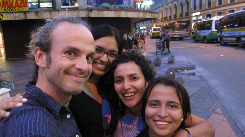 With Sofía, Andrea and Yesi