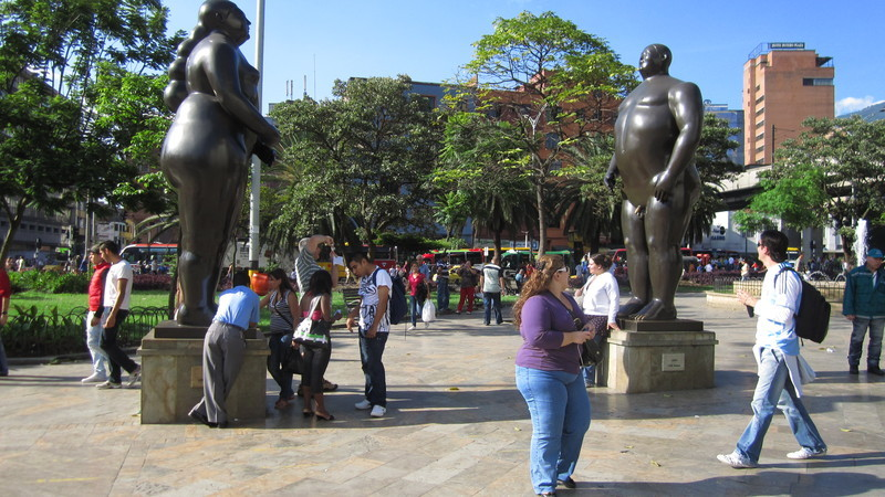 The statue and the model :-)