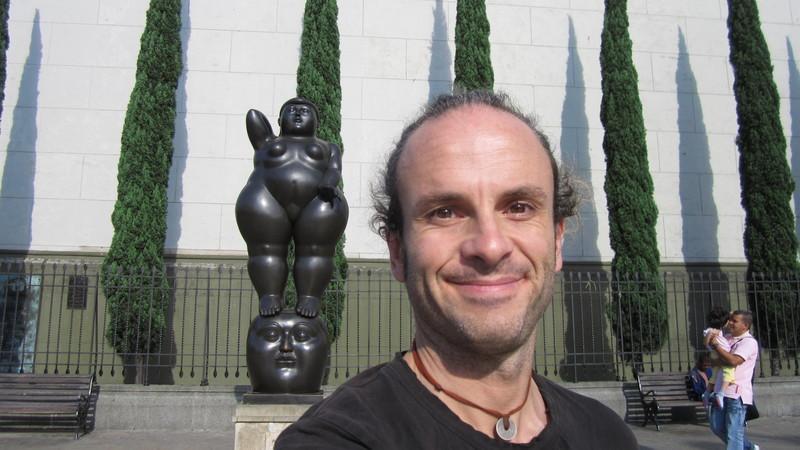 Me in Plaza Botero