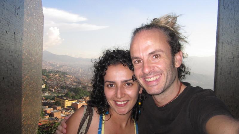 Con Andrea at the España Library