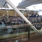 The queue for the immigration: 1 hour 50 minutes. Welcome to Canada!