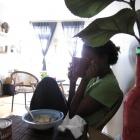 Shy Maski at breakfast