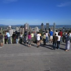 Downtown Montréal from the Mont Royal—and the people in between!