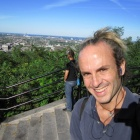 The Olympic stadium and the city from the Mont Royal. And me