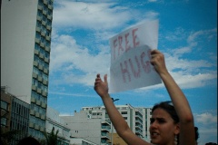 Free hugs in Ipanema