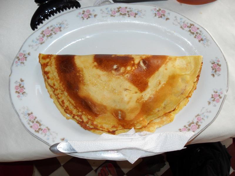 Crêpe for breakfast