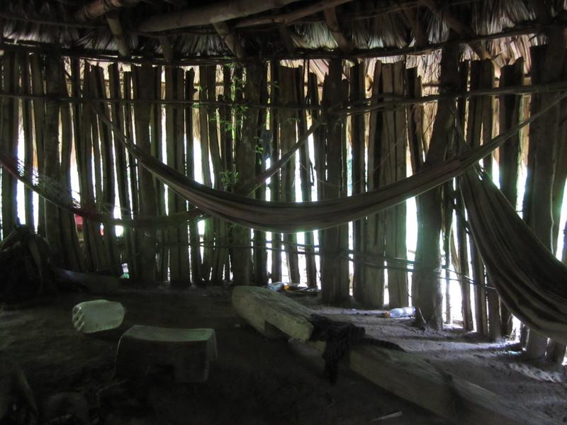 Cabaña of the natives