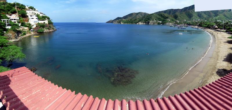 Beach of Taganga from my hostel