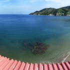 Beach of Taganga from my hostel
