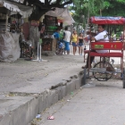 Memories of India: a rickshaw and a half-metre high pavement . . .