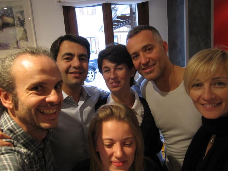 Con Marco, Danielle, la Silvia, Andrea e la Lori da Andrea
