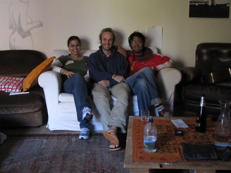 With Lisa and Arijit from India (they brought the prosecco!)