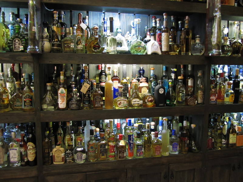 Tequila! In the centre my favourite one: guess which …