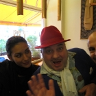 With Kavi and Gordon in Der Imbiss W