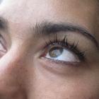 The Fernsehturm reflected in Kavi's eyes