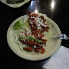 Tacos del pastór (una tortilla normal y una gringa)