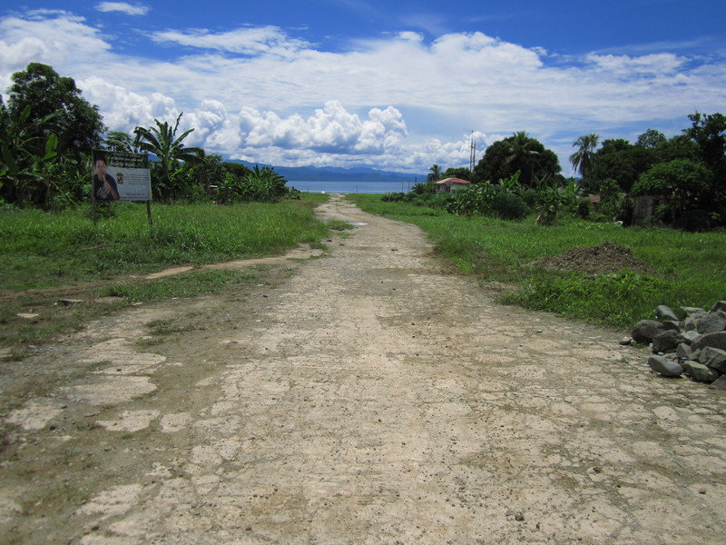 This used to be the landing strip in the Puerto Obaldía «airport»