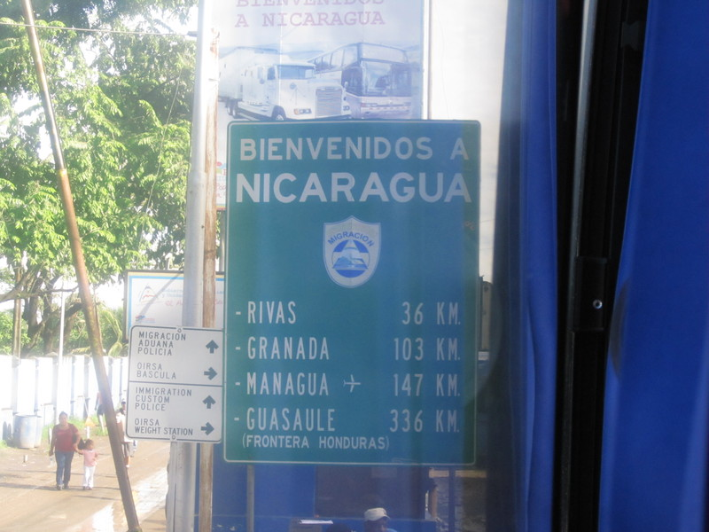 The border between Costa Rica and Nicaragua