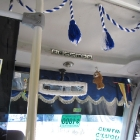 Decorated bus