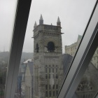 A rainy day from inside the Musée des Beaux-Arts