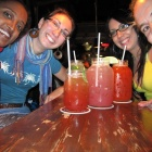 Colourful drinks in a jar!—Night out with the girls
