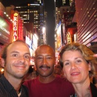 In Times Square with Kev and Gabi