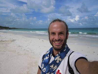 Me at the Caribbean in Tulum