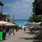 A glimpse of the Caribbean Sea from the city