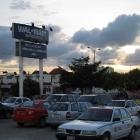 Mexico, U.S.A.—sunset at Wal Mart